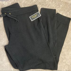 NWT Juicy Couture Black label cashmere joggers XL